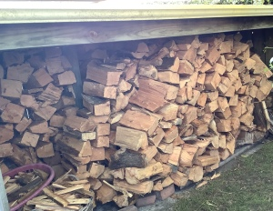 Woodpile stacked