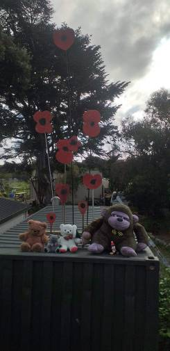 Poppies on Anzac Day